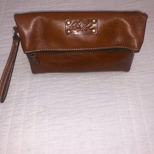 Patricia Nash leather clutch